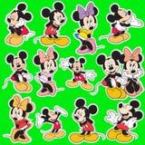 Disney-het beeldverhaalinzameling van de mickeymuis Stock Fotografie