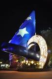 Disney Hollywood bij nacht in de Wereld Orlando van Disney Stock Foto's