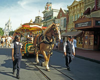 Disney Horse Drawn Trolley Stock Photo