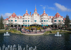 Disney Hotel. Disneyland Paris hotel at Disney Paris stock image