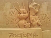 Disney insabbia Ostende magico immagine stock