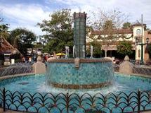 Disney Kalifornien affärsföretagspringbrunn Royaltyfria Foton