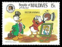 Disney-karakters in Arts Knowall royalty-vrije illustratie