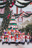 Disney-Kerstmisparade Stock Foto's