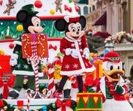 Disney-Kerstmisparade Stock Foto