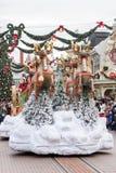 Disney-Kerstmisparade Royalty-vrije Stock Foto's