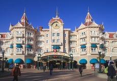 Disney-Land, Parijs Hoofdingang aan het park Stock Foto's
