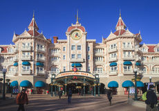 Disney land, Paris Huvudsaklig ingång till parkera Arkivfoton