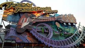 Disney Land Paris Roller Coaster Stock Photo