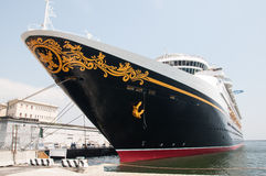 Disney Magic. Cruise ship bow Stock Photos