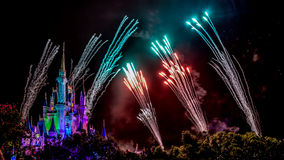 Disney Magic Kingdom Fireworks Stock Images