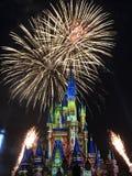 Disney Magic Kingdom. Fireworks at disney photography Royalty Free Stock Photo