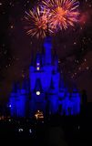 Disney Magic Kingdom Fireworks Royalty Free Stock Image