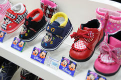 Disney mickey  baby shoes Stock Image