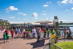 Disney molha o transporte no reino mágico, Walt Disney World fotografia de stock royalty free