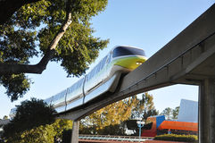 Disney Monorail in Epcot. Disney Monorail is a fast transportation between Magic Kingdom and Epcot, Disney World Orlando, Florida, USA Stock Images