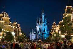 Disney Orlando Castle night II. Walt Disney World Orlando resort at night with Castle people stock images