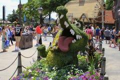 Disney Orlando Floryda Epcot wiosny kwiatu światowy festiwal ltick tock kapcan od Peter niecki Zdjęcia Royalty Free