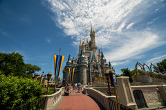 Disney Orlando walkway to castle Royalty Free Stock Image