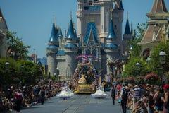 Disney Orlando. Walt Disney World Orlando resort with Castle and parade royalty free stock image