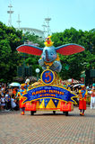 Disney parade. The famous disney parade at disneyland, hong kong while spectators watching Royalty Free Stock Image