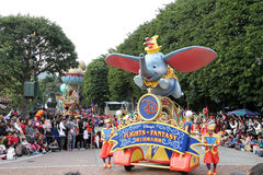 Disney parade. Beautiful shot of disney parade at disney land in hong kong royalty free stock photography