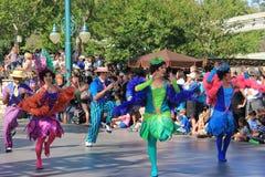Disney-Parade in Disneyland royalty-vrije stock afbeelding