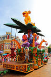 Disney parade of disneyland, hong kong Stock Photos