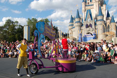 Disney parade in front of Cinderella castle Royalty Free Stock Photo