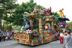 Disney-parade in Hong Kong stock foto