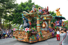 Disney parade in Hong Kong Stock Photo