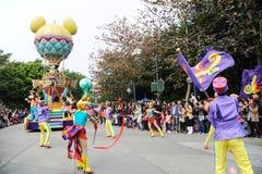 Disney parade in Hongkong Stock Image