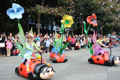 Disney parade in Hongkong Stock Image