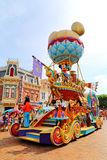 Disney-parade met mal, pluto, mickey & minnie muis Royalty-vrije Stock Foto's