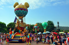 Disney-Parade mit doof u. minnie Maus Lizenzfreies Stockfoto