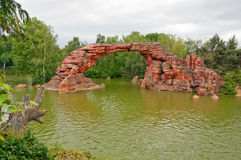 Disney parks in Paris. Beautiful rock in the Disney parks in Paris Stock Photography