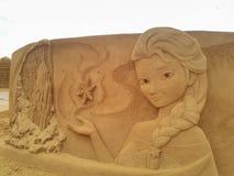Disney piasek Magiczny Ostende - wrak Zdjęcia Royalty Free