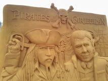 Disney piasek Magiczny Ostende - wrak Zdjęcie Royalty Free