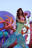 Disney Princess - Ariel. Disney Princess from the Little Mermaid. Ariel on a Disneyland Parade called the Soundsational Parade Stock Photography