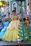 Disney Princess - Belle. Disney Princess from Beauty and the Beast. Belle on a Disneyland Parade with Cinderella in the background Royalty Free Stock Photos