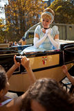 Disney Princess - Cinderella. Disney princesses parade at Hyde Park Stock Photo