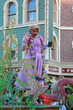 Disney Princess - Rapunzel. Disney Princess from Tangled. Rapunzel on a Disneyland Parade Royalty Free Stock Photo