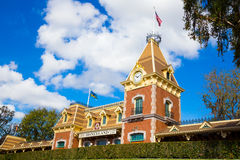 Disney Railroad Station Royalty Free Stock Photos