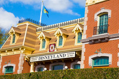 Disney Railroad Station Stock Photo