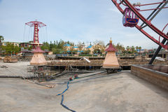 Disney's California Adventure. ANAHEIM, CA - January 26: World of Color undergoes construction at Disney's California Adventure park in Southern Caliofrnia Stock Photo