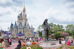 Disney's Castle and Statue Stock Images