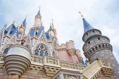 The Disney Castle. Disney castle at Magic Kingdom in Lake Buena Vista, Florida stock images