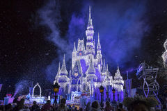 Free Disney`s Cinderella Castle With Christmas Icicles Royalty Free Stock Photos - 81699518