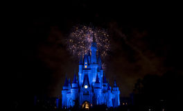 Disney`s Firework. Disney`s Magic Kingdom in Orlando Royalty Free Stock Images