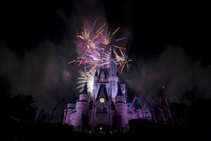 Disney`s Firework. Disney`s Magic Kingdom in Orlando Royalty Free Stock Photos
